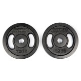 HAMMER Dumbbell weight discs 2x 7.5 kg, iron