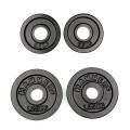 HAMMER weight plates 2x 0,5 kg, 2x 1,25 kg, black